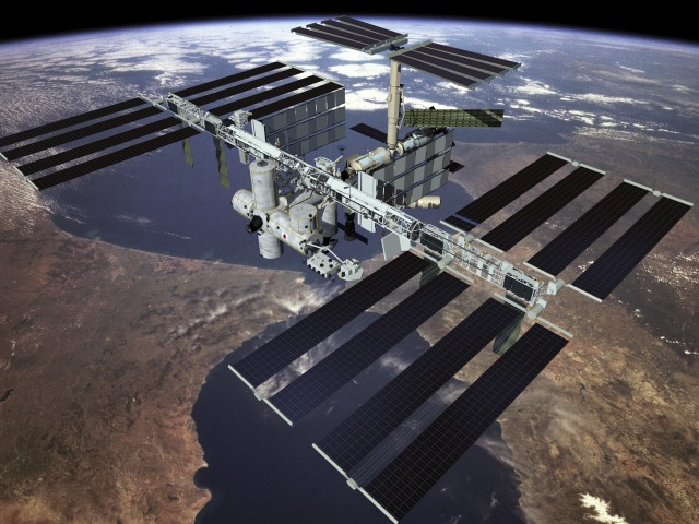 Artist's conception of International Space Station.