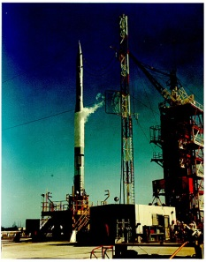 Vanguard on launch pad (TV-3), Dec. 6, 1957.