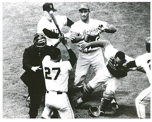 The Juan Marichal/John Roseboro Bat Incident took place in a game between the San Francisco Giants and the Los Angeles Dodgers on August 22, 1965.
