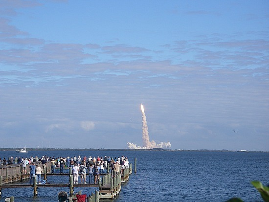 "Launch of the Space Shuttle ""Atlantis."""
