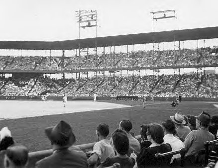 Sportsman Park in St. Louis, where both the Browns and the Cardinals played their home games until the Browns left the city.