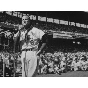 Musial at his retirement ceremony at Busch Stadium