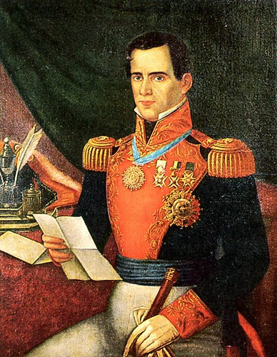 Santa Anna as he wished to be depicted.