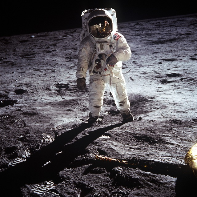 Buzz Aldrin on the lunar surface on July 20, 1969.