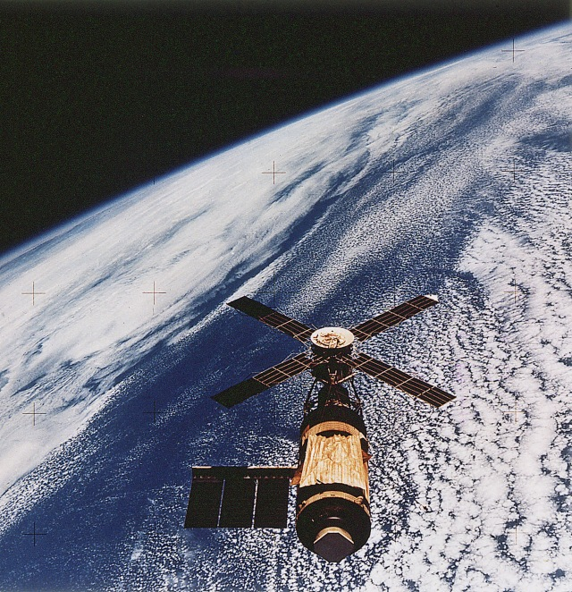 Skylab in orbit, 1973-1974.