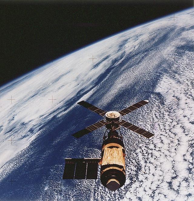 Skylab in orbit, 1973-1974.
