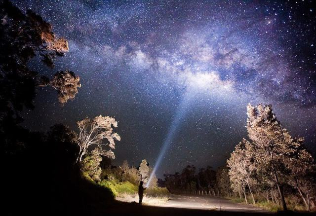 Shining My Flashlight on the Milky Way