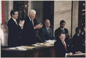 Reagan at the 1984 State of the Union Address.