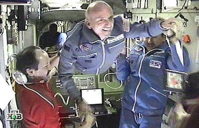Dennis Tito on the International Space Station.