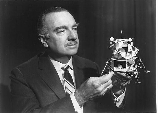 Walter Cronkite covering Apollo in the 1960s.