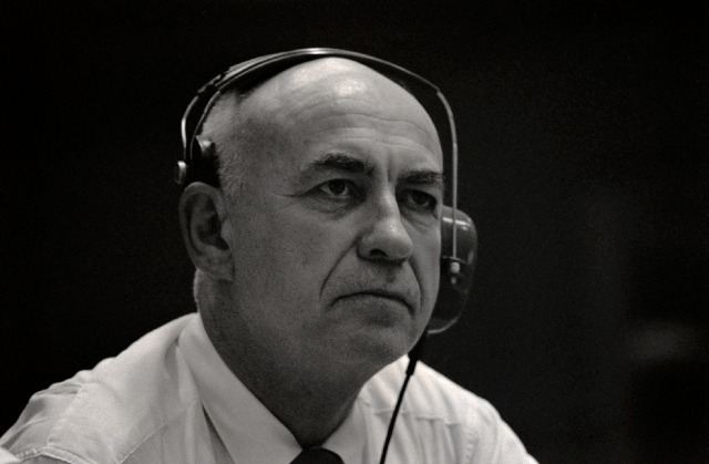 Robert Gilruth during an Apollo mission.