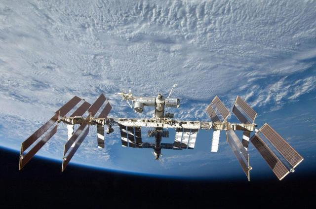 The International Space Station in 2012.