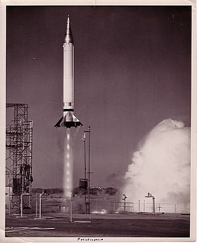 Viking #11 was fired at White Sands on May 24, 1954 and soared to an altitude of 158 miles and attained a speed of 4,000 miles per hour.
