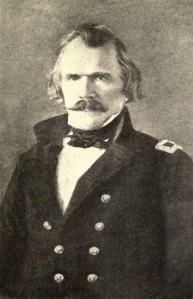 Albert Sidney Johnston, commander of the Army Expeditionary Force to Utah in 1857-1858.