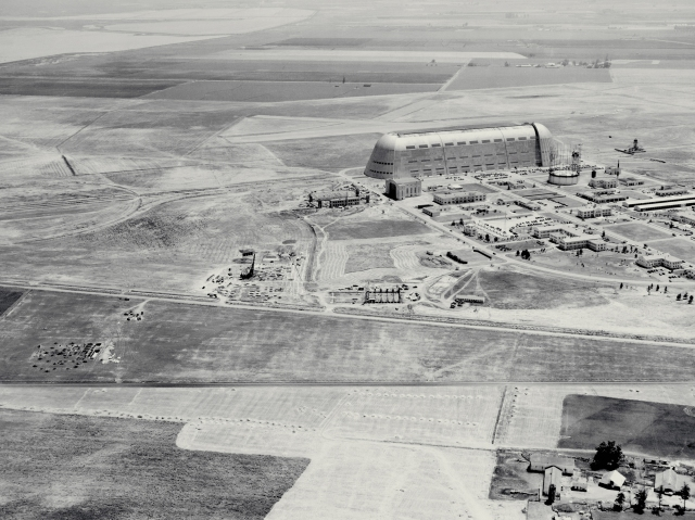 Ames Aeronautical Laboratory under construction in California in 1940.
