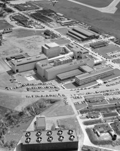 Early aerial photograph of Lewis Aeronautical Laboratory, now Glenn Research Center.