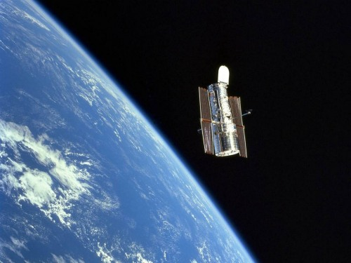 The Hubble Space Telescope in Orbit.
