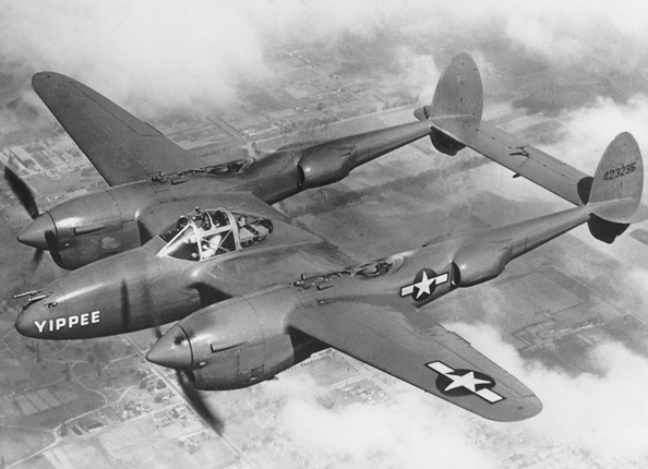 The Lockheed P-38 Lightning had far greater range than its early contemporaries.
