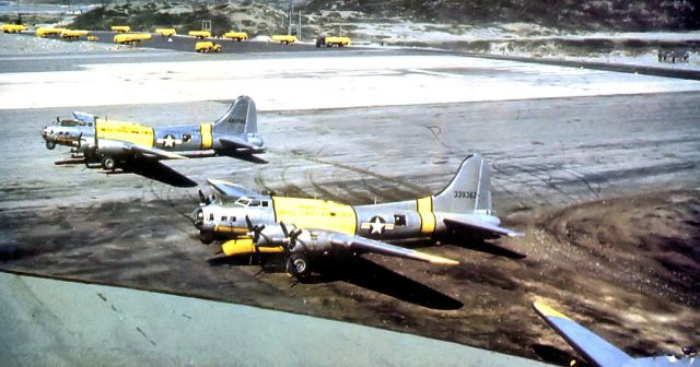 51st Rescue Squadron SB-17s at Narsarsuaq Air Base, Greenland, in the 1950s.