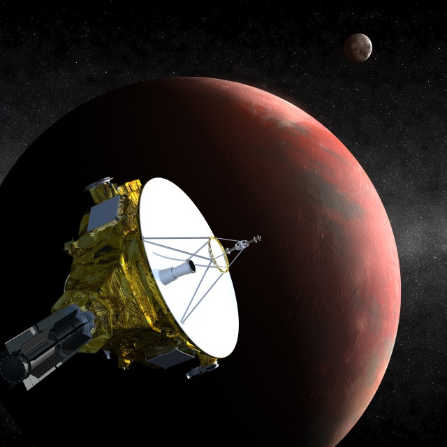 "Artist's conception of ""New Horizons at Pluto."