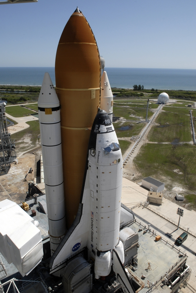 Space Shuttle Endeavour on launch pad 39A prior to mission STS-127, May 31, 2009.