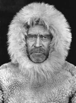 Robert E. Peary at Cape Sheridan, Ellesmere Island, Northwest Territories, Canada, in 1909.