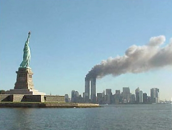 The 9/11 attack on the World Trade Center.
