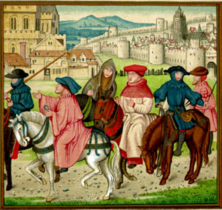 The pilgrims of Chaucer.