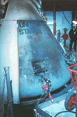 Apollo 1 after the fire.