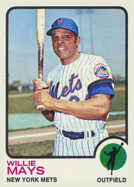 Mays in 1973 with the Mets.