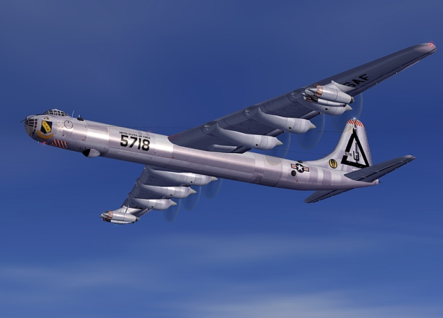 "The Convair B-36 ""Peacemaker"" was a strategic bomber built by Convair and operated solely by the United States Air Force from 1949 to 1959."