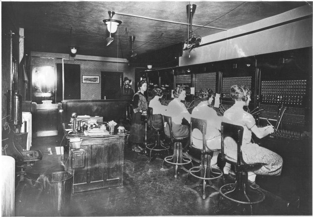 The switchboard in Santa Fe, New Mexico, 1921.