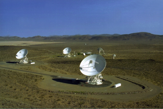 The Goldstone deep space communication complex. Satellite dishes like these may one day provide the capability for a Mars communications system.