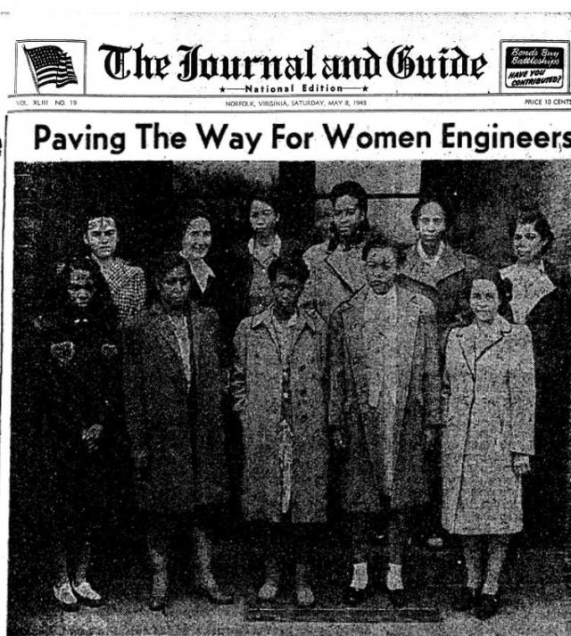 The Norfolk news story of these African American computers at Langley in 1943.