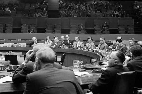 First session of the Legal Committee on Peaceful Uses of Outer Space, May 26, 1959.
